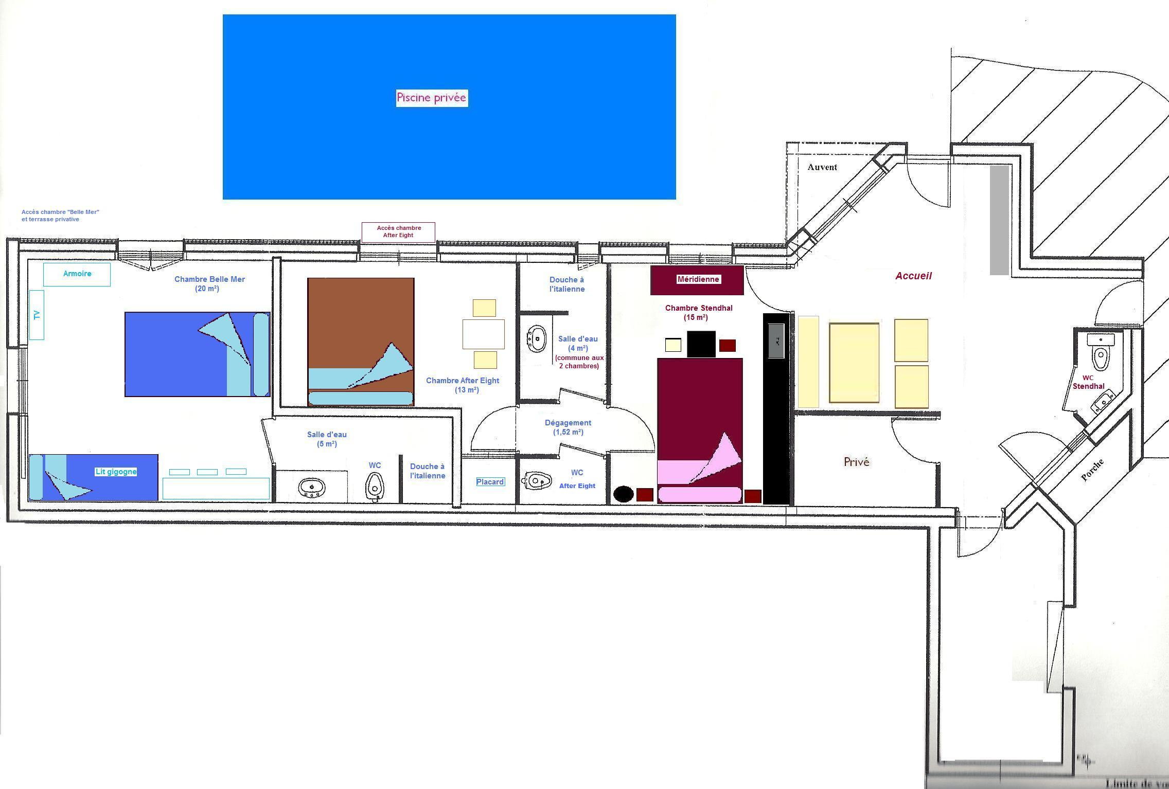 plan chambres d27hotes 2014